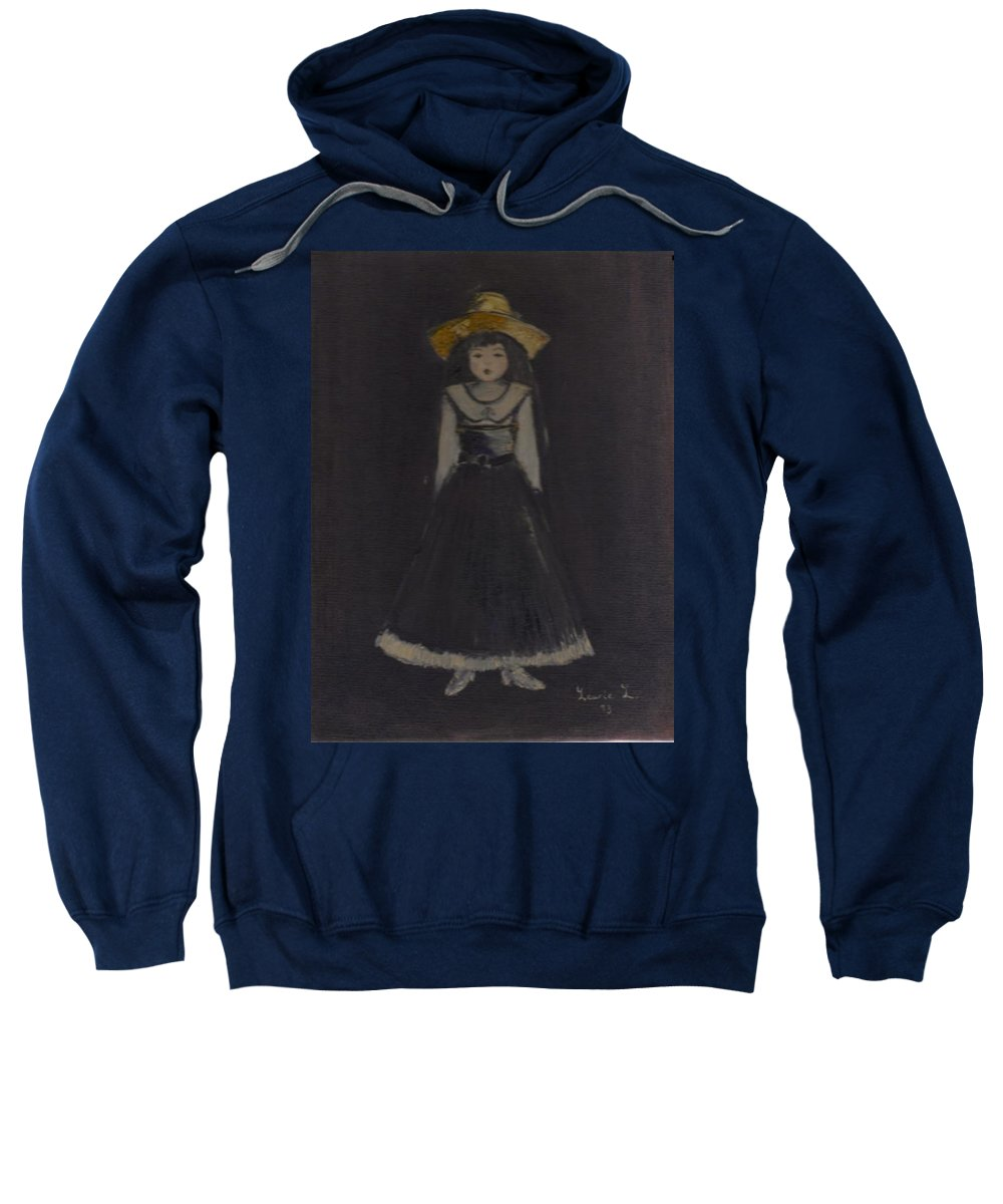 Girl Sweatshirt featuring the painting Just A Beautiful Country Girl... by Laurie Lundquist