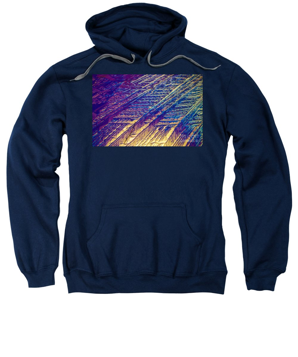 Light Micrograph Sweatshirt featuring the photograph Light Micrograph Of Zalcitabine Ddc by Michael W. Davidson