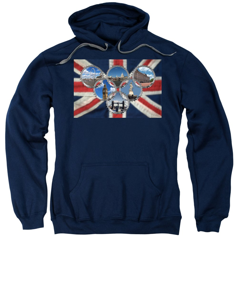 London Sweatshirt featuring the photograph London Scenes by Chris Day