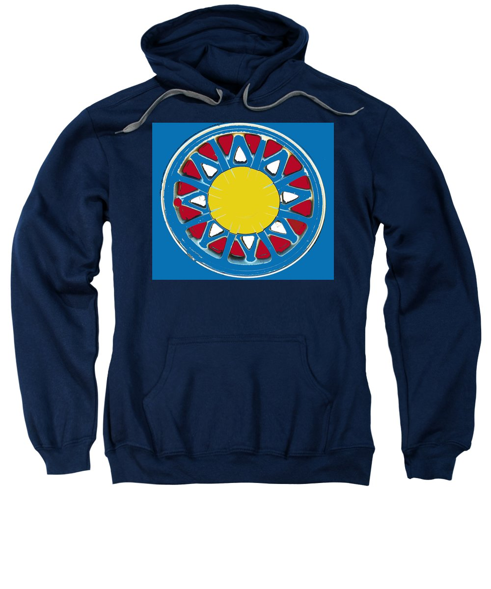 Abstract Sweatshirt featuring the photograph Mandala In Primary Colors by Lenore Senior