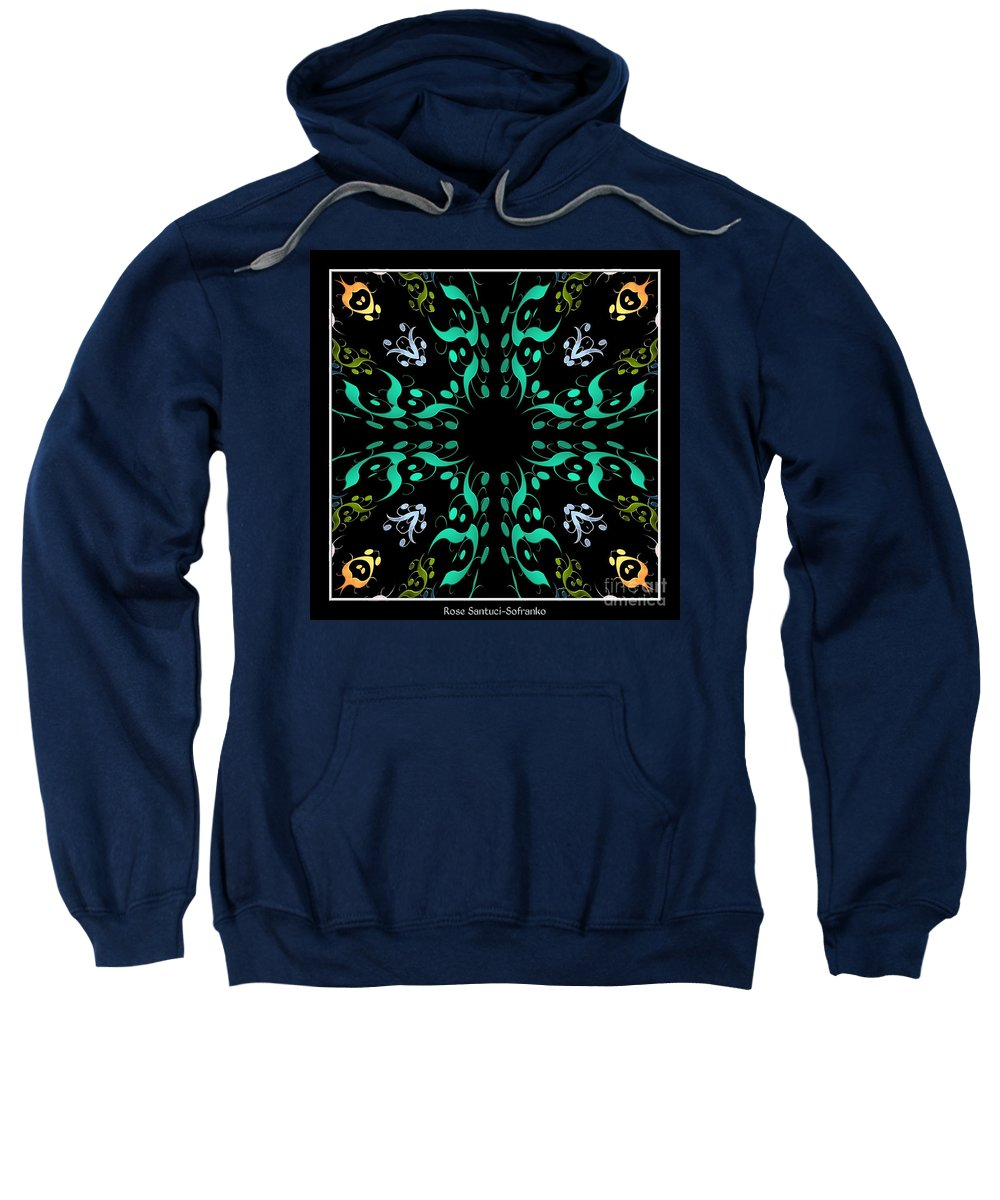 Metallics Sweatshirt featuring the photograph Metallic Flourishes Warp 3 by Rose Santuci-Sofranko
