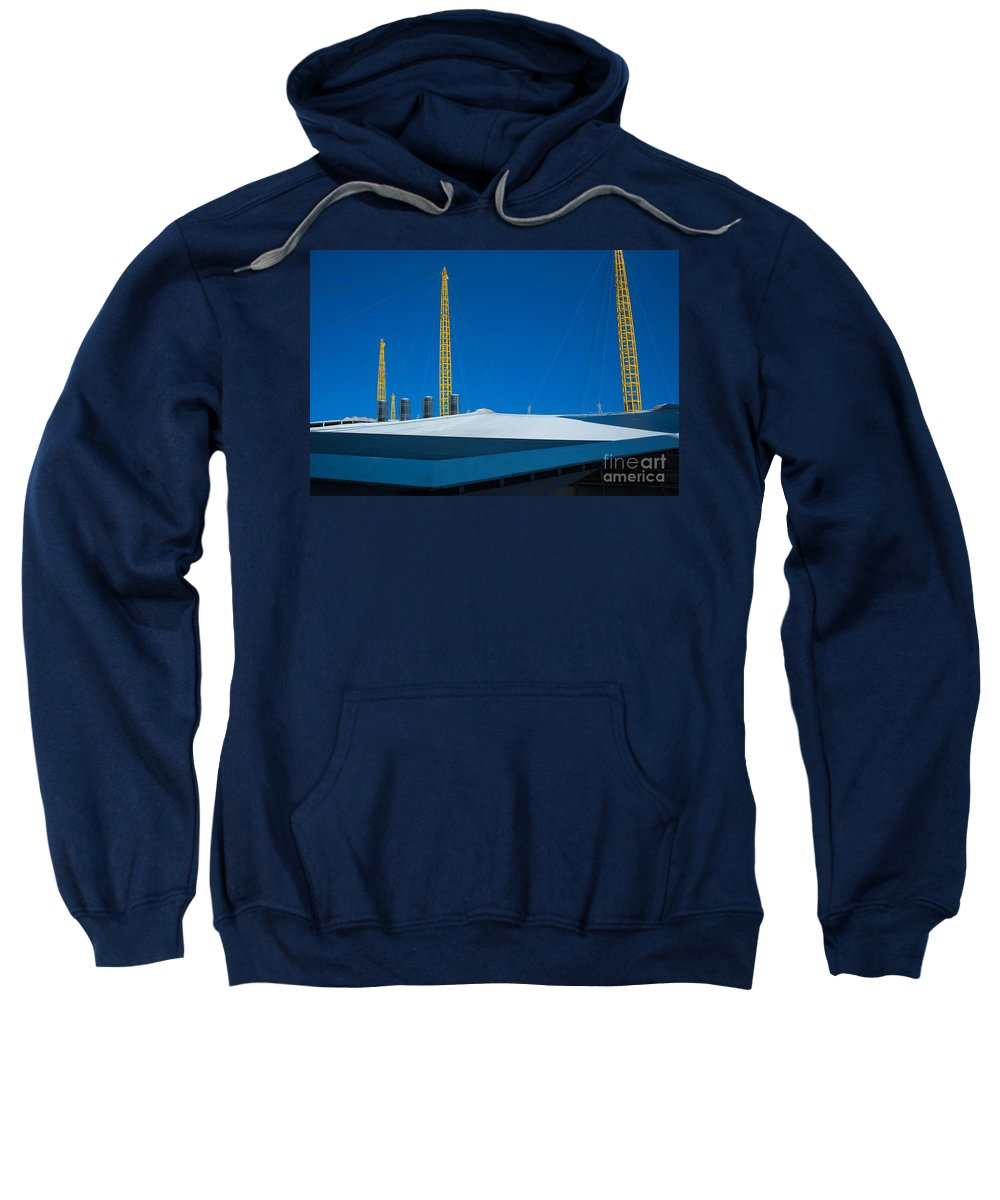 Arena Sweatshirt featuring the photograph Millennium Dome Abstract by Andrew Michael