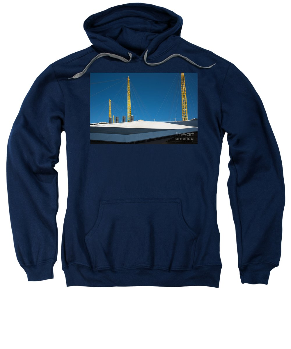 Arena Sweatshirt featuring the photograph Millennium Dome by Andrew Michael