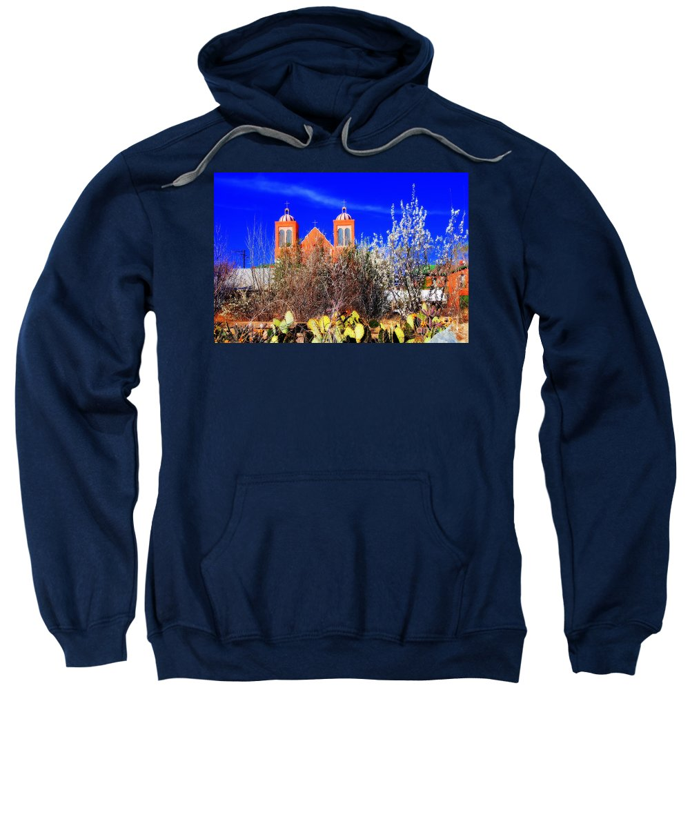 Mission Sweatshirt featuring the photograph Mission In Silver City Nm by Susanne Van Hulst
