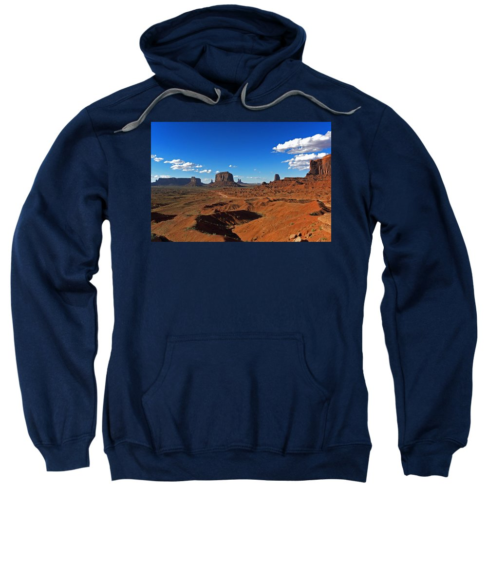 Monument Sweatshirt featuring the photograph Monument Valley by David Pringle