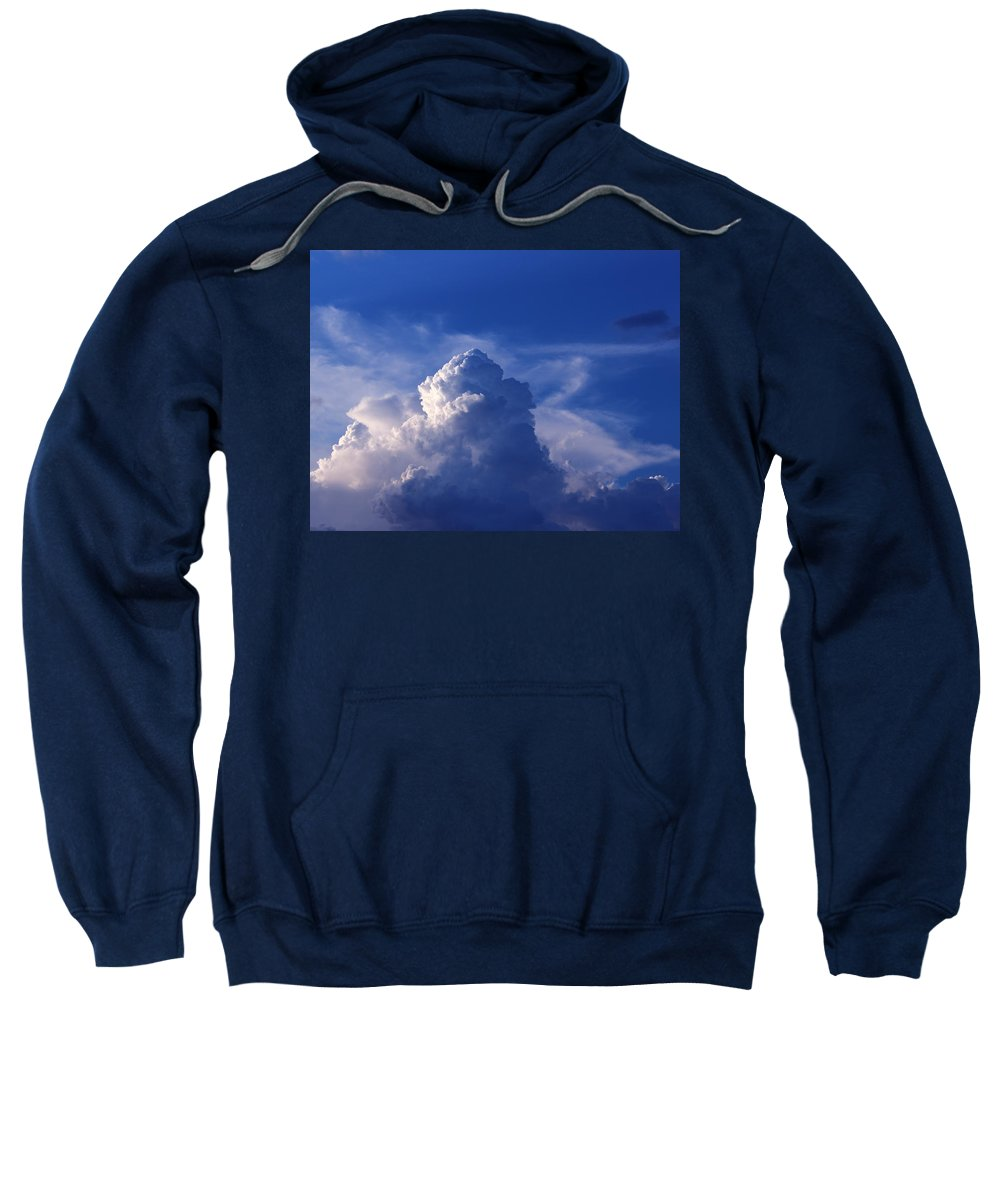 Cloudscape Sweatshirt featuring the photograph Mountain In The Sky by Kume Bryant