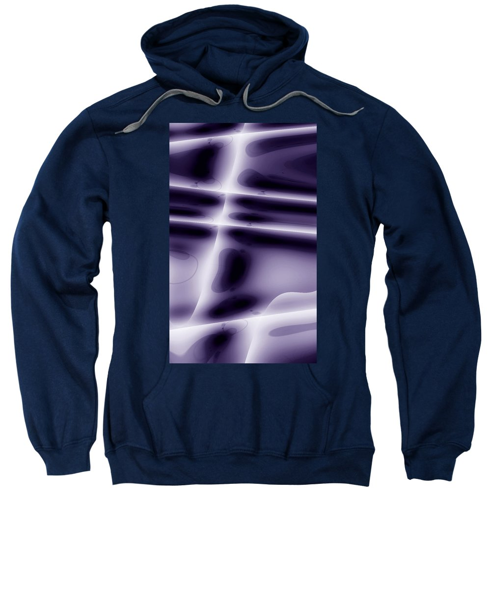 spaceform Digital Abstract Art By Artist Jacob Kane Kanduch -- Moveonart Sweatshirt featuring the digital art Moveonart Spaceform by Jacob Kanduch