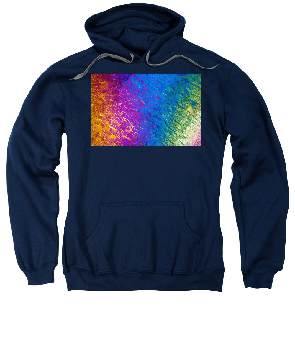 Science Sweatshirt featuring the photograph Nicotine Tartrate Lm by Michael W. Davidson