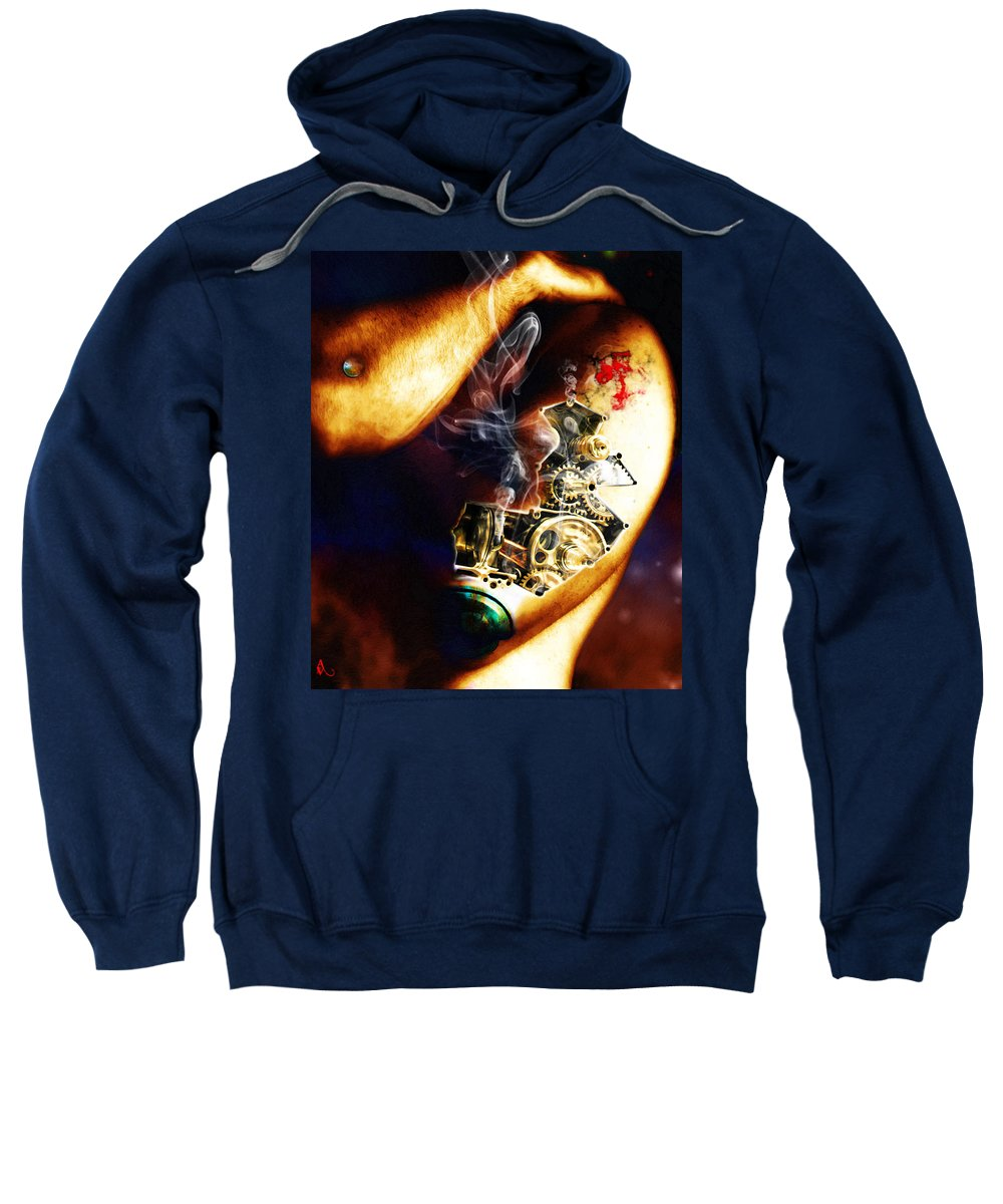 Man Sweatshirt featuring the photograph Over Worked by Adam Vance