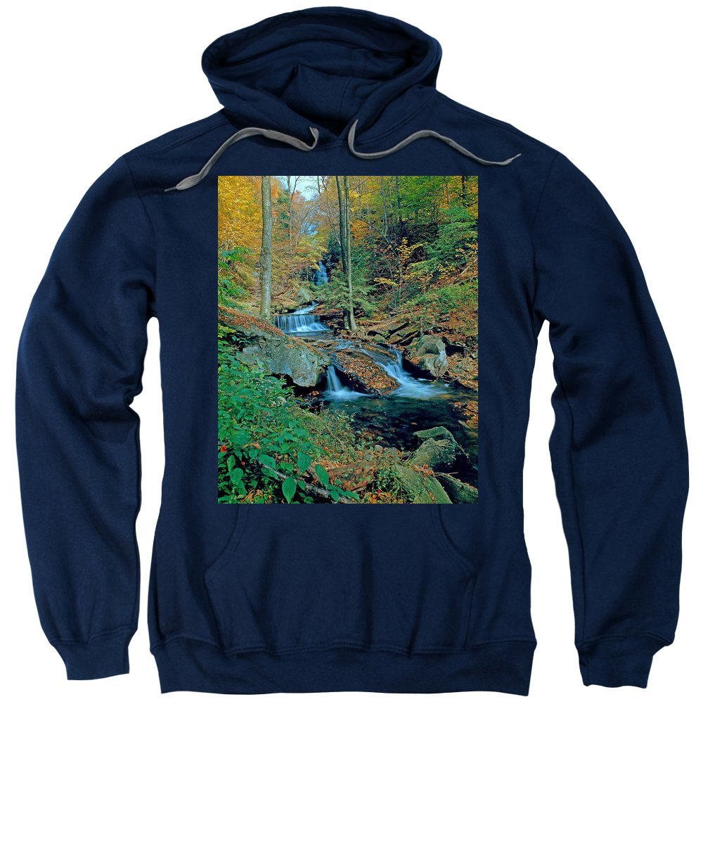 Pennsylvania Sweatshirt featuring the photograph Ozone Falls And Rapids by Rich Walter