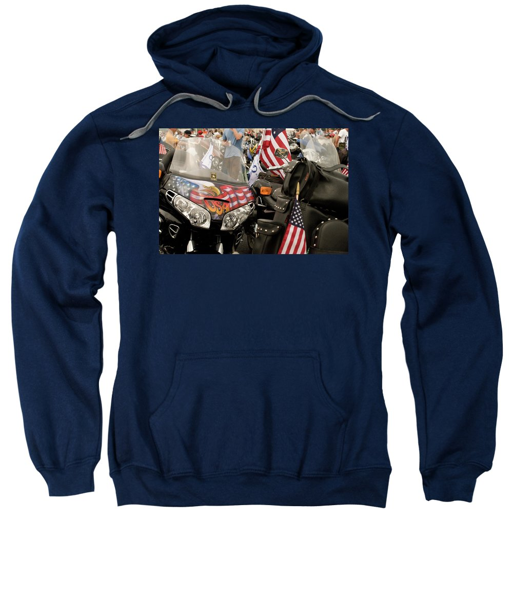 washington Dc Sweatshirt featuring the photograph Patriotism Rides by Paul Mangold