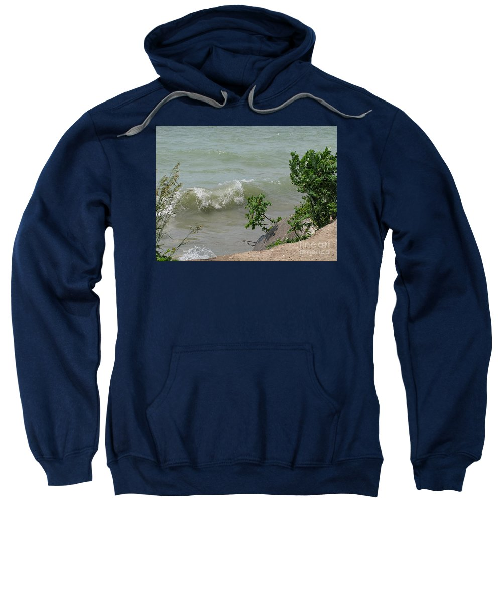 Lake Sweatshirt featuring the photograph Pelee Shore by Ann Horn