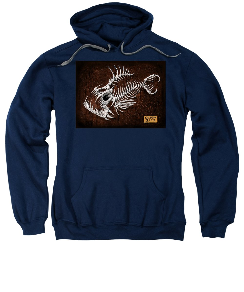 Fish Sweatshirt featuring the painting Pescado Tres by Baron Dixon