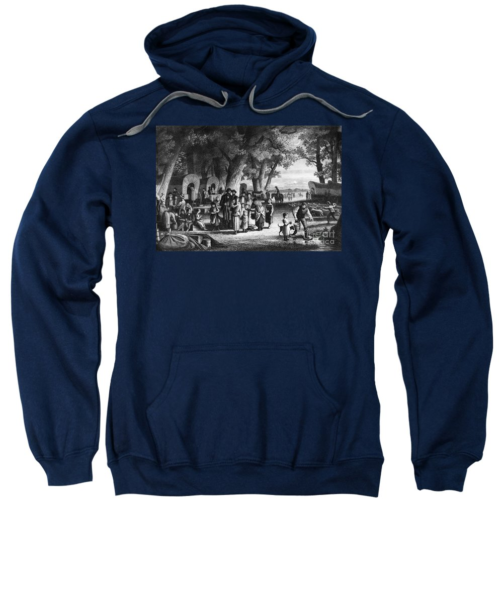 19th Century Sweatshirt featuring the photograph Pioneer Camp by Granger