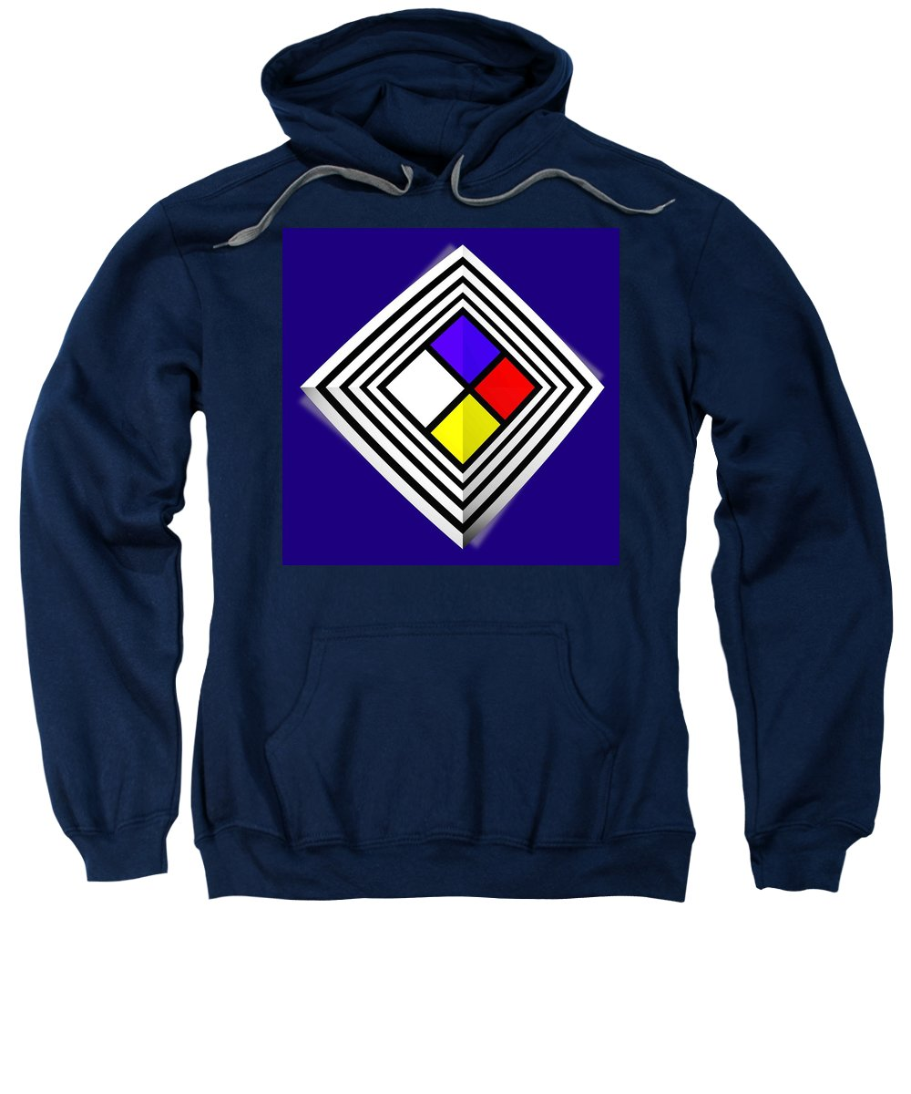 Diamond Sweatshirt featuring the painting Primary Object by Charles Stuart