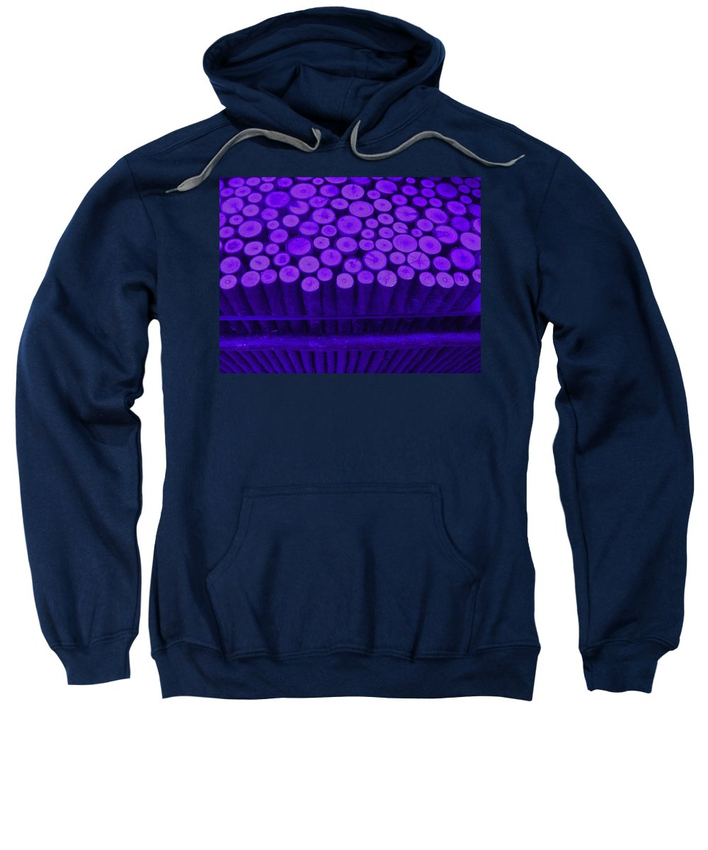 Purple Sticks Sweatshirt featuring the photograph Purple Maple Sticks by Kym Backland