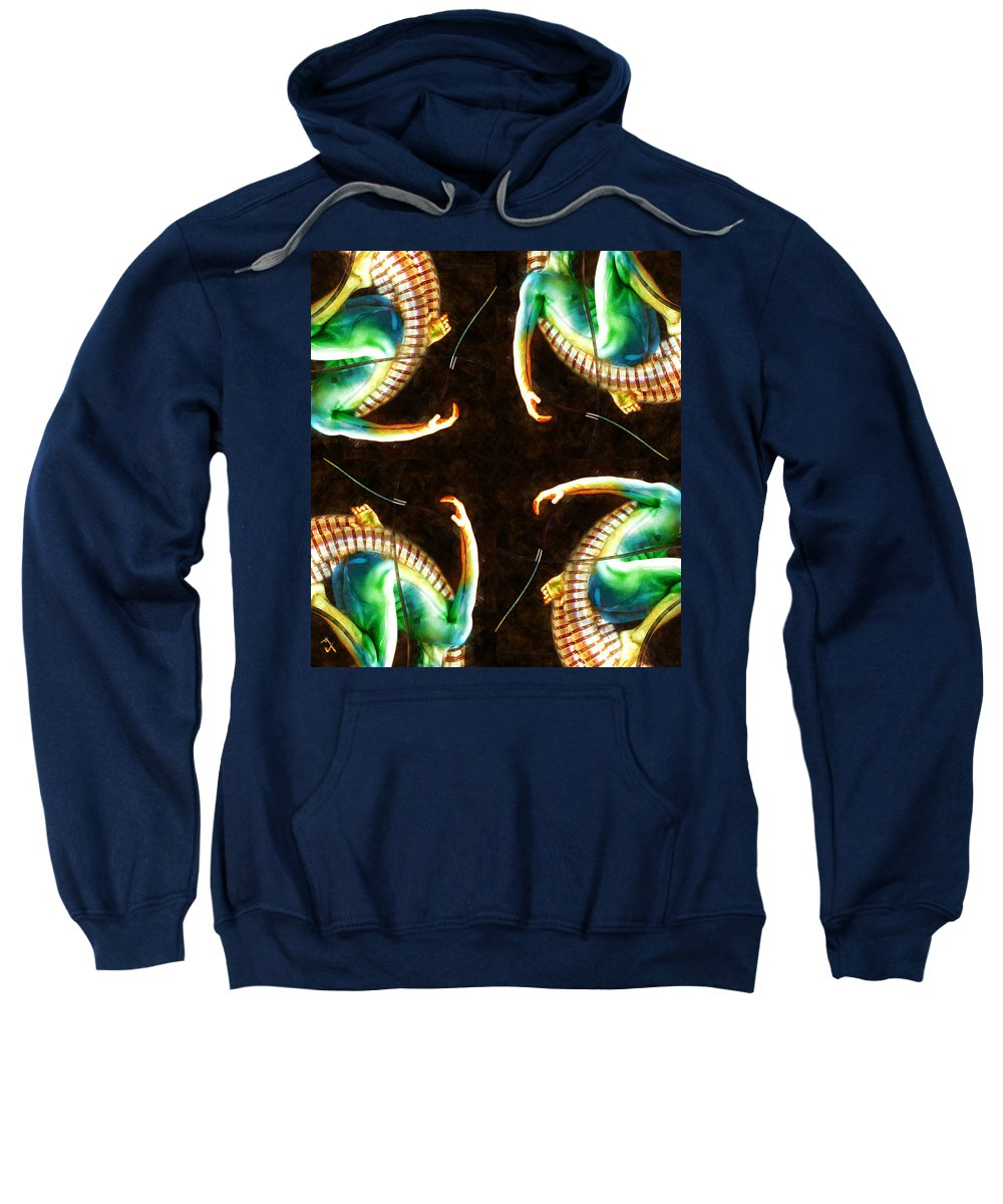 Arms Sweatshirt featuring the painting Reaching Out by Adam Vance