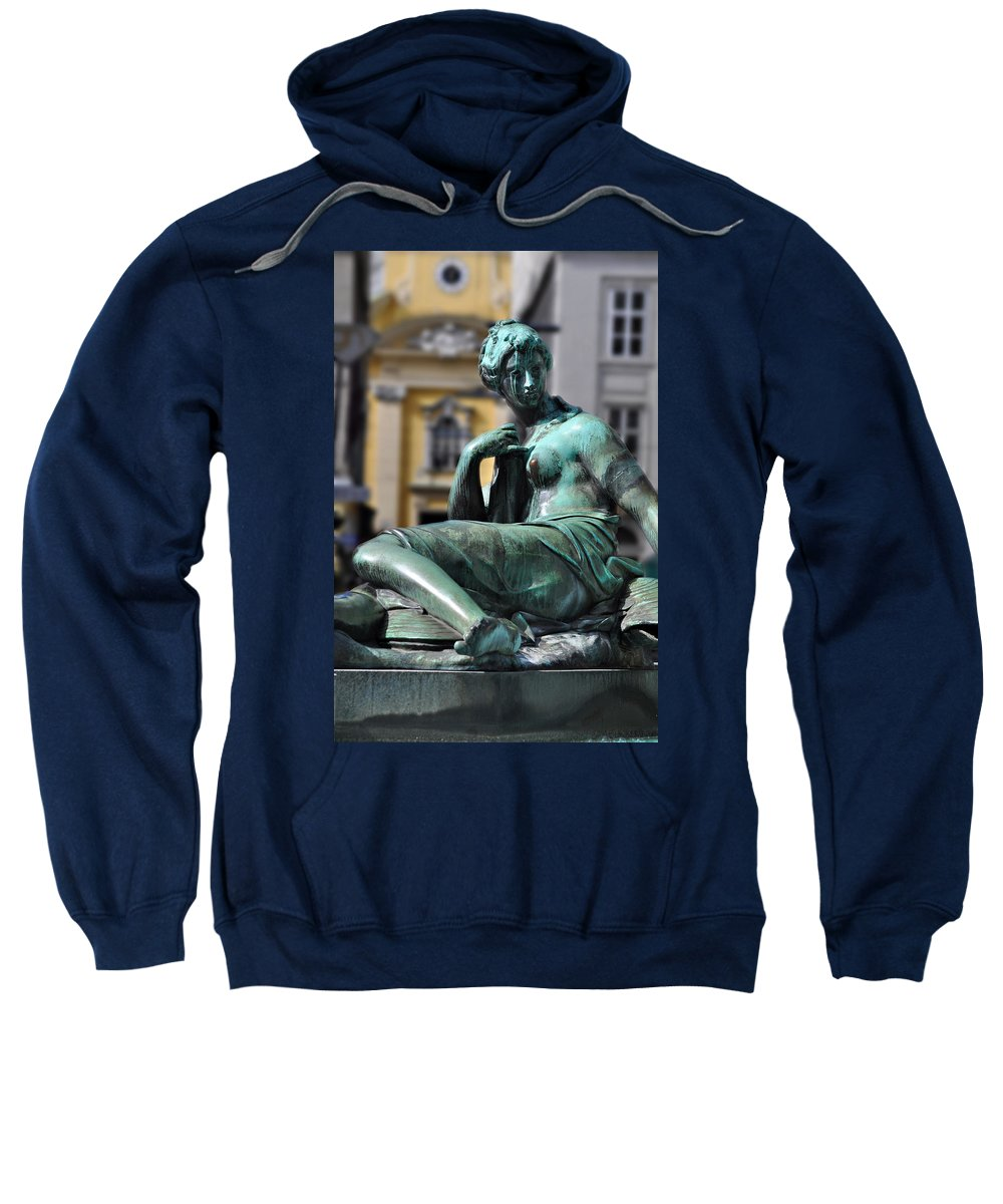 Reclining Nude Sweatshirt featuring the photograph Reclining Nude Vienna by Mary Machare