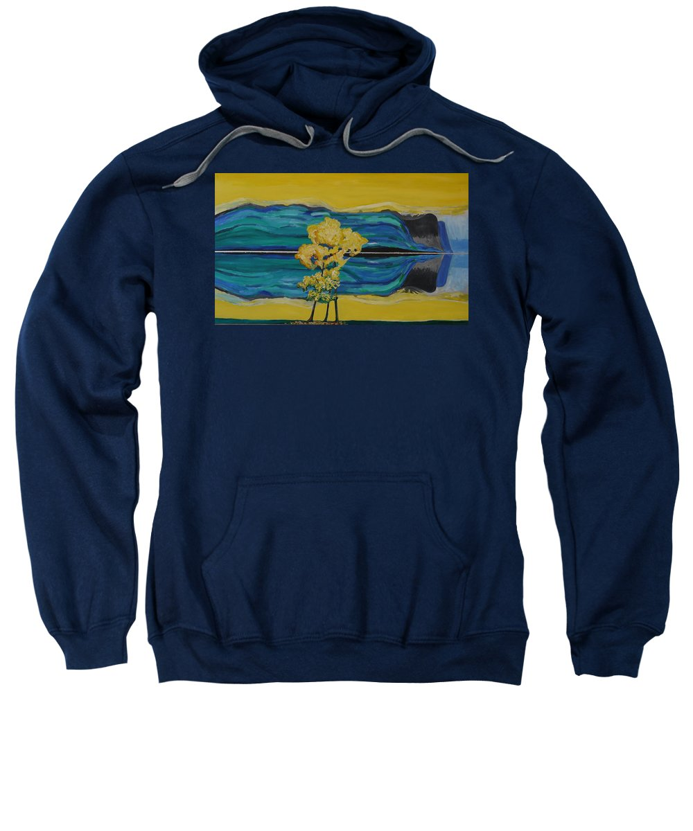 Sweatshirt featuring the painting Reflections in Water by Jarle Rosseland
