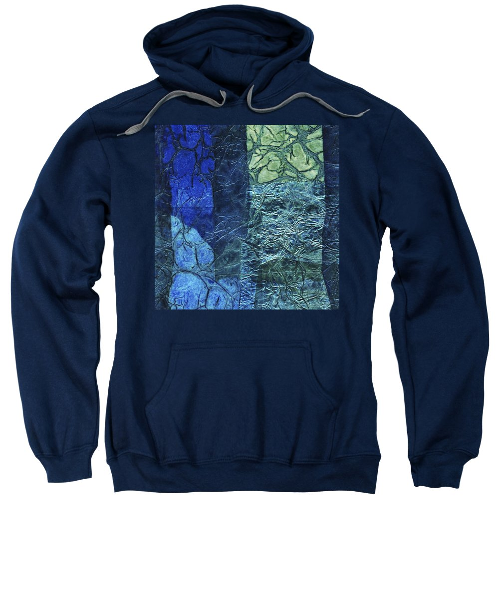 Abstract Sweatshirt featuring the mixed media Rhapsody Of Colors 46 by Elisabeth Witte