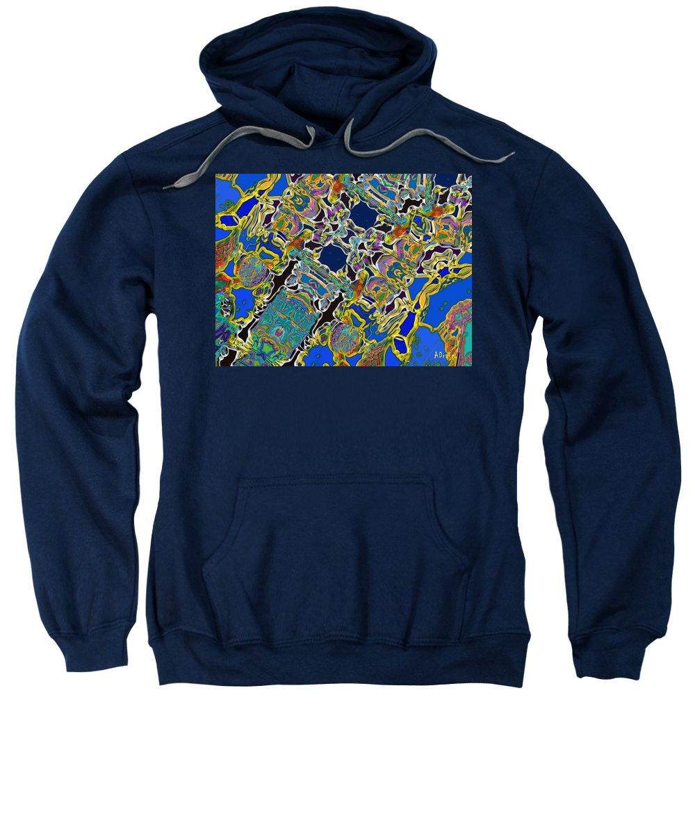 Rio Sweatshirt featuring the digital art Rio Carnival Fantasy by Alec Drake
