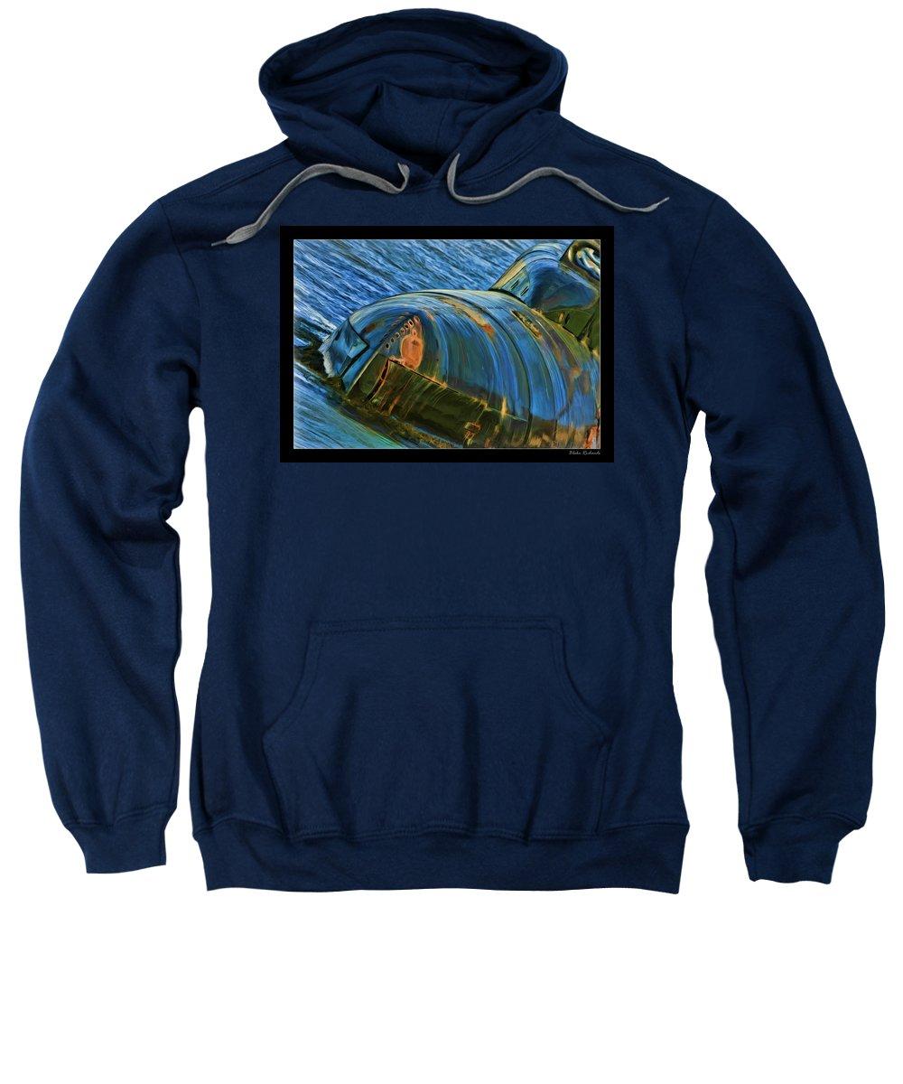Submarine Sweatshirt featuring the photograph Rusted Submarine by Blake Richards