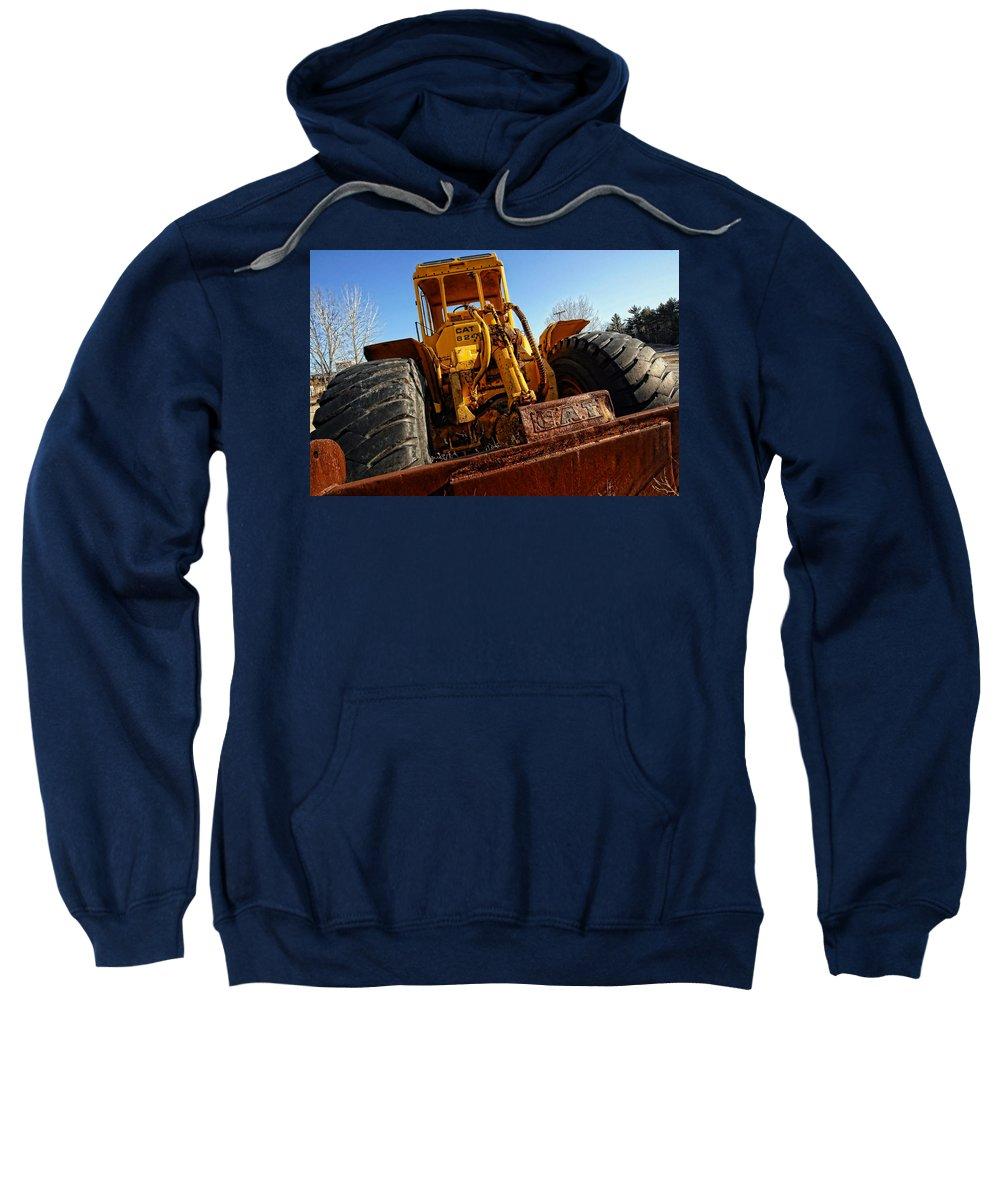 Caterpillar Sweatshirt featuring the photograph Rusty Gold Cat 824 by Gordon Dean II