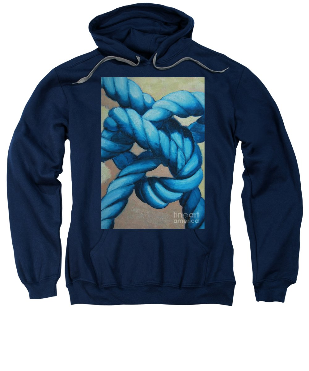 Knot Sweatshirt featuring the painting Sailor Knot 8 by Ana Maria Edulescu