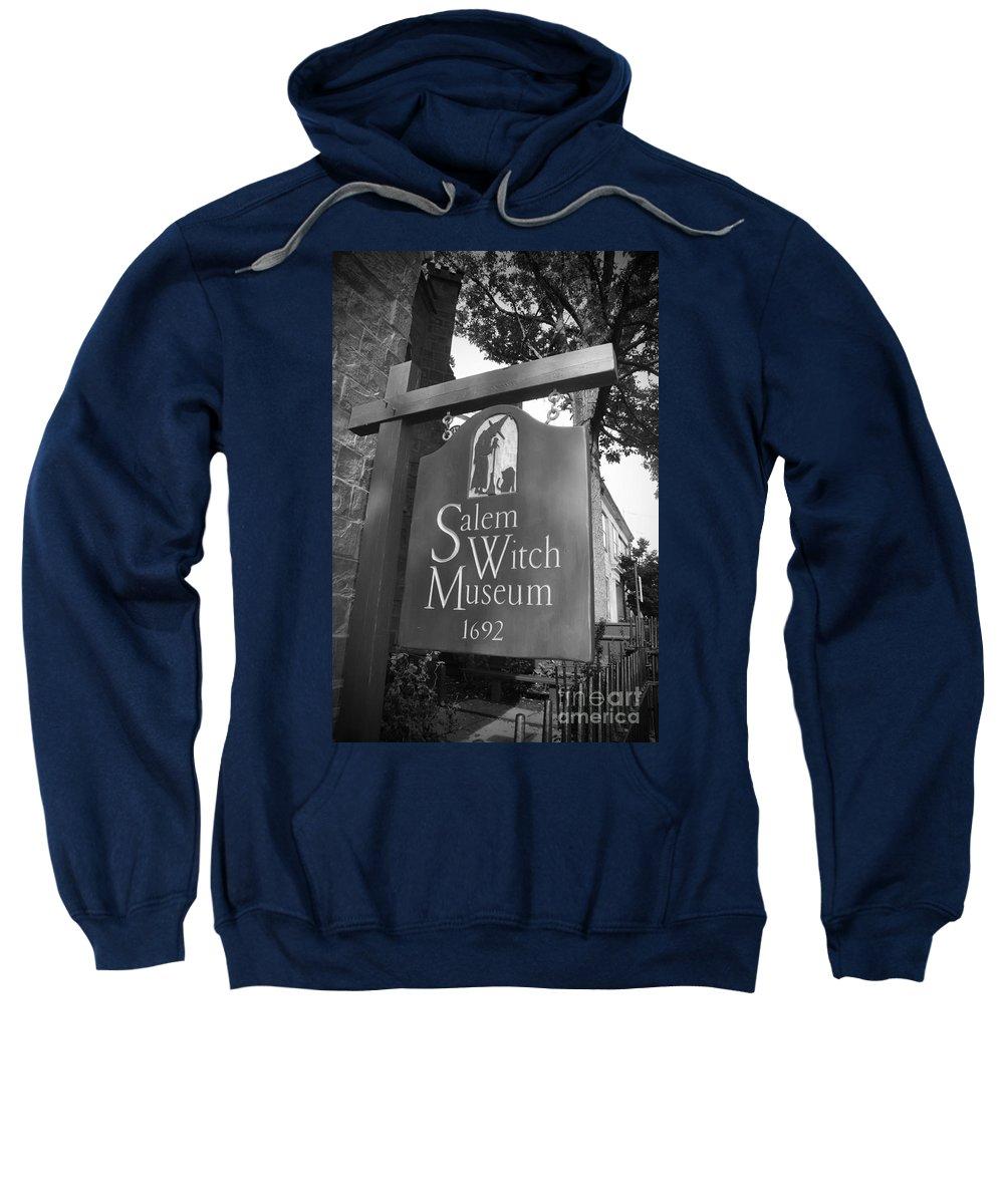 Salem Massachusetts Sweatshirt featuring the photograph Salem Witch Museum by Brittany Horton