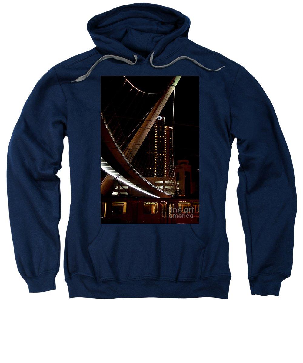 California Sweatshirt featuring the digital art San Diego Lights At Night by Carol Ailles