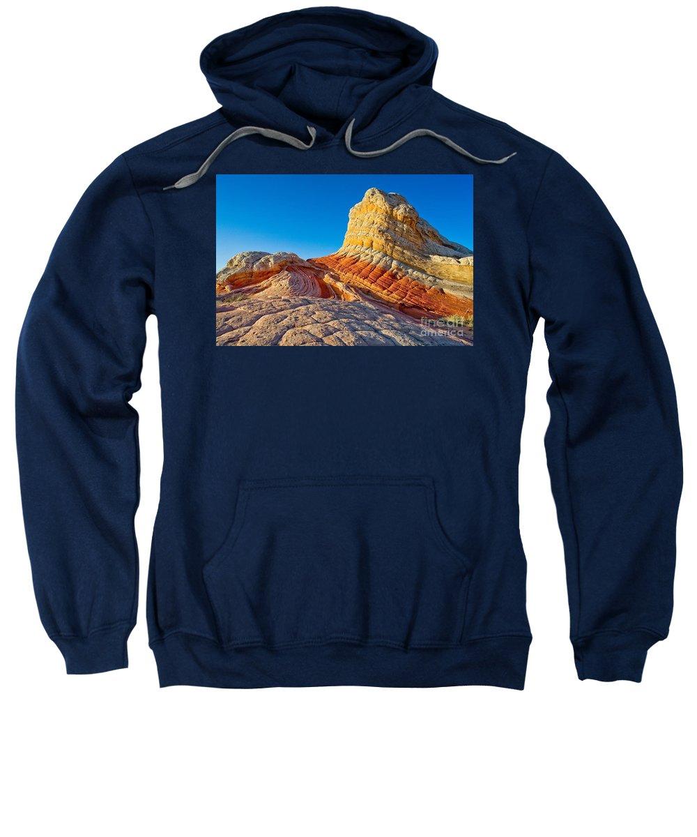 Arizona Sweatshirt featuring the photograph Sandstone Swirls Arizona by Matt Suess