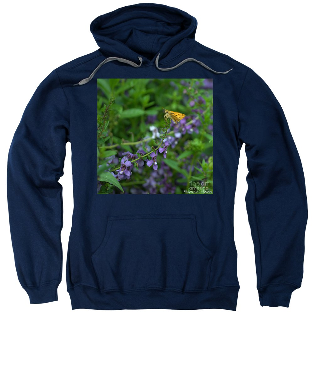 Insect Sweatshirt featuring the photograph Sitting On Top Of The World by Donna Brown