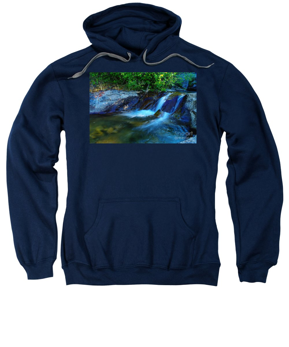 Water Sweatshirt featuring the photograph Small Blue Water by Jeff Swan