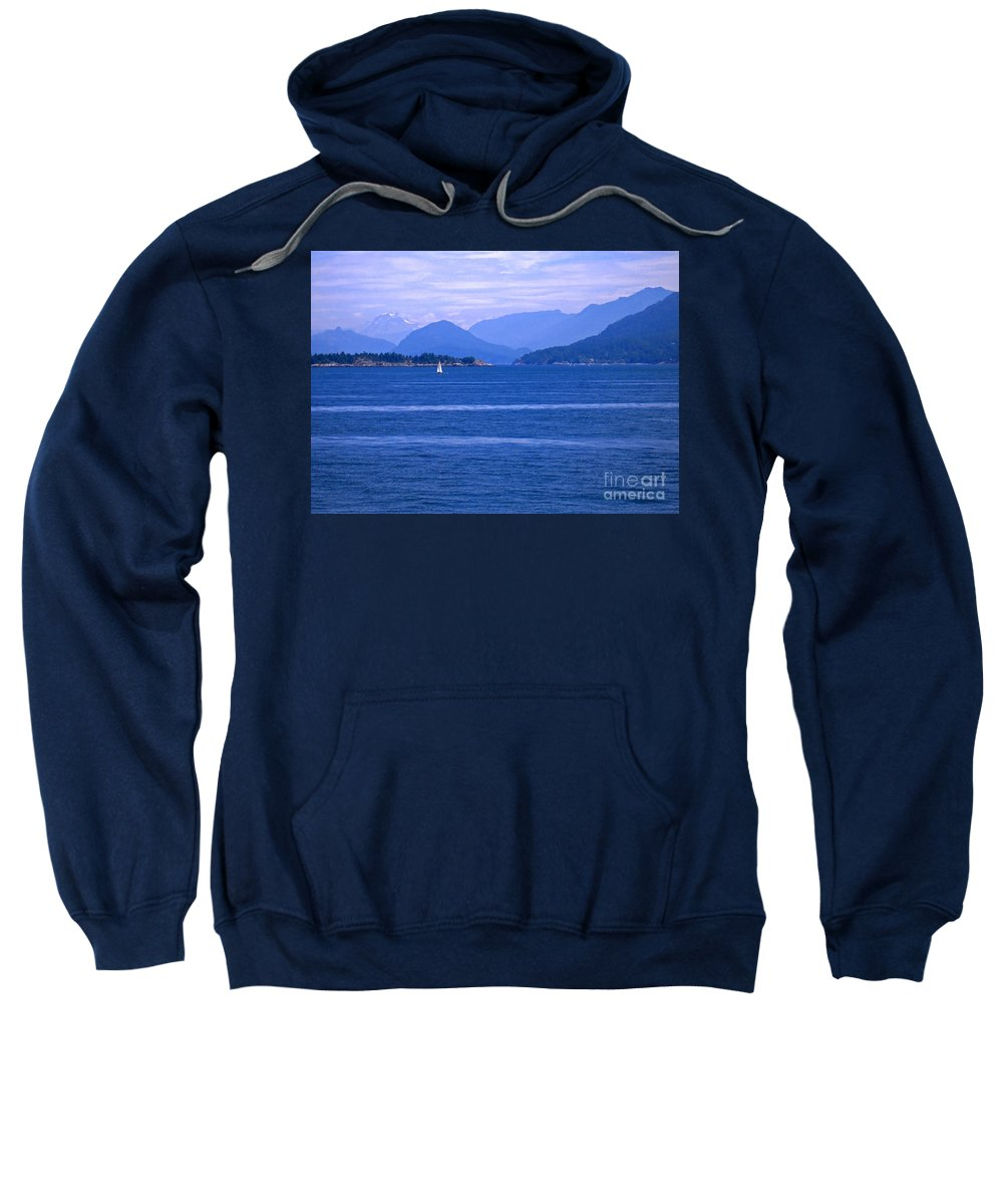 Sailboat Sweatshirt featuring the photograph Solitary Sailing by Ann Horn