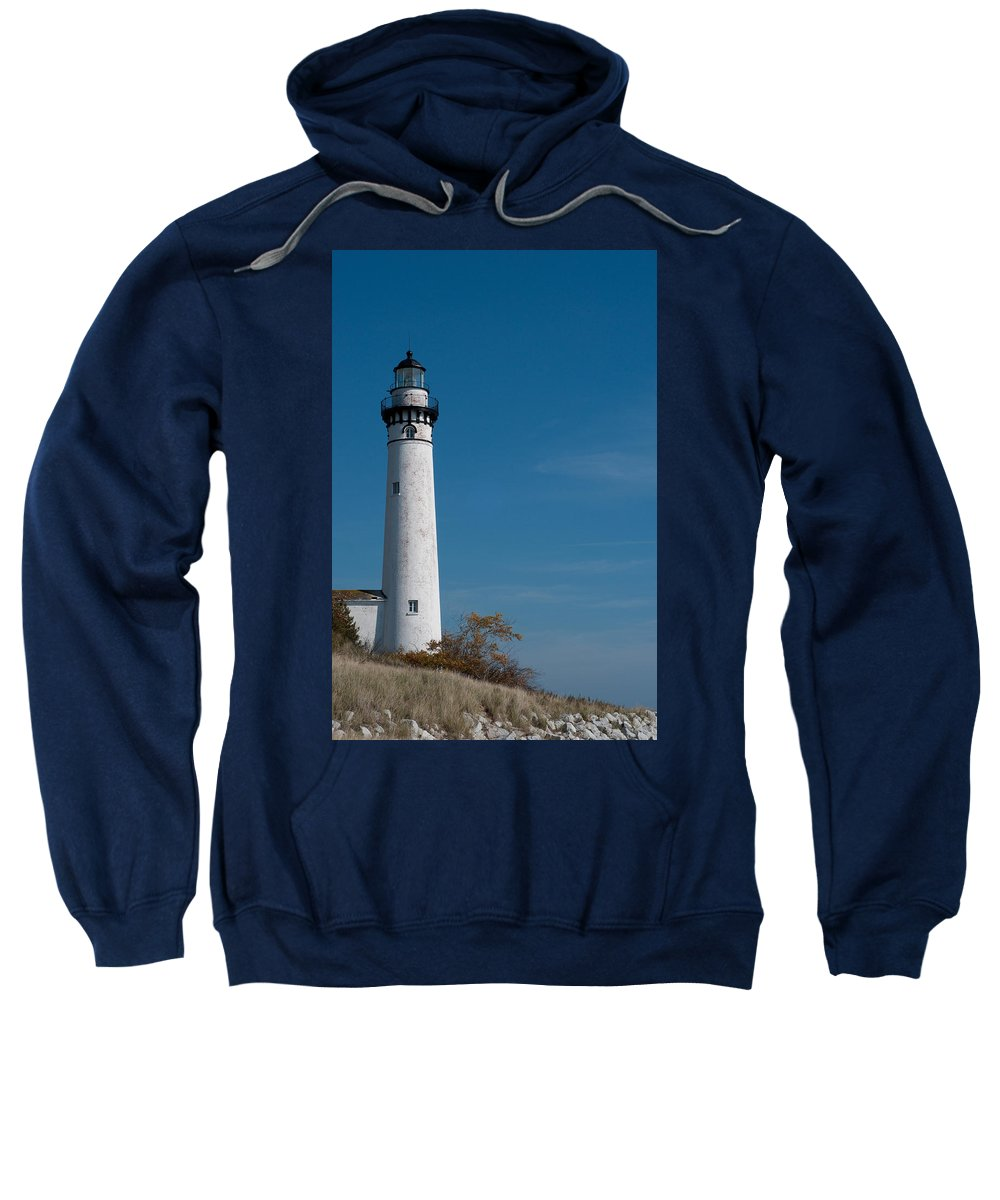 Lighthouse Sweatshirt featuring the photograph South Manitou Island Lighthouse by David Arment