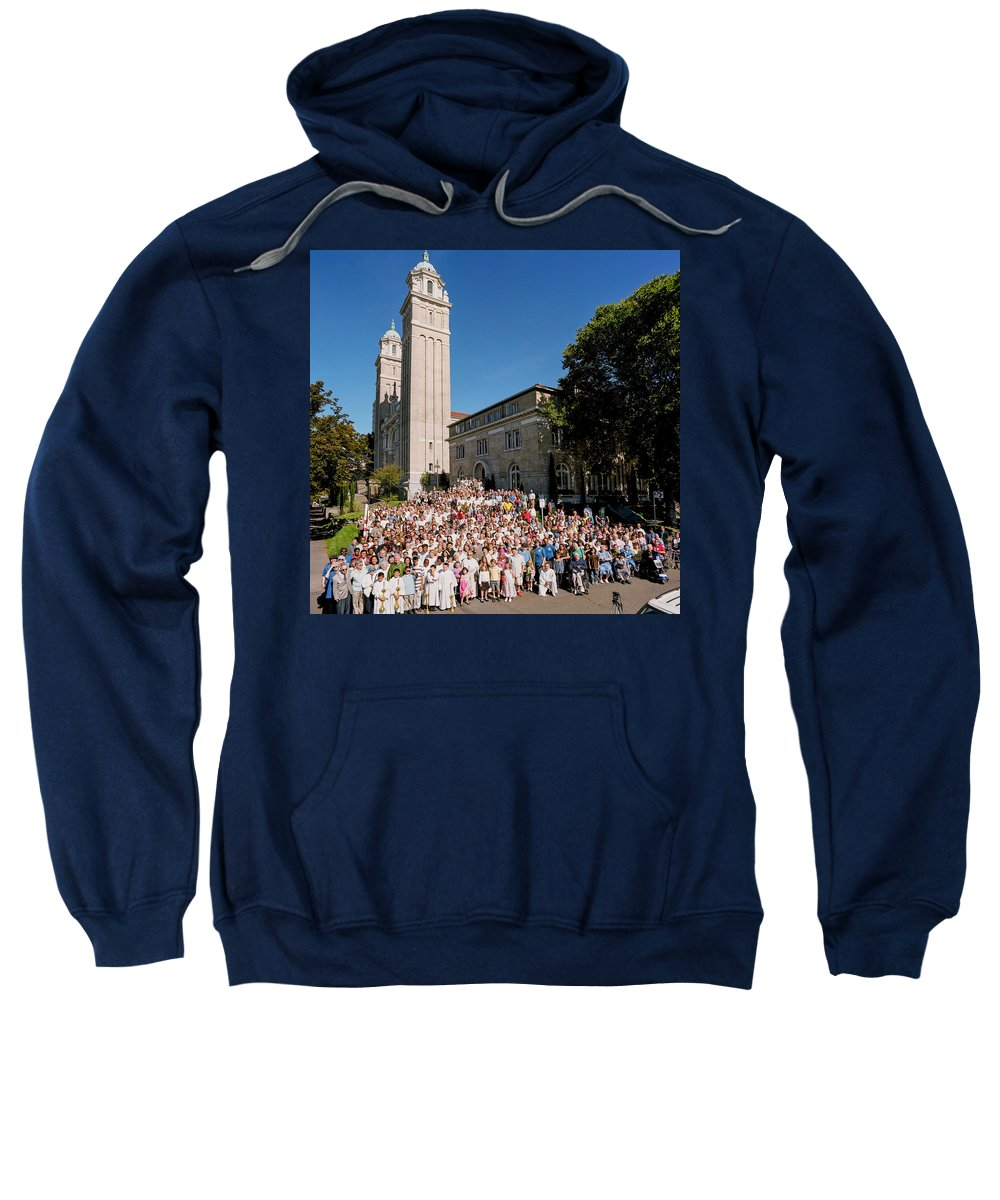 St James Cathedral Sweatshirt featuring the photograph St James Cathedral 2007 by Mike Penney