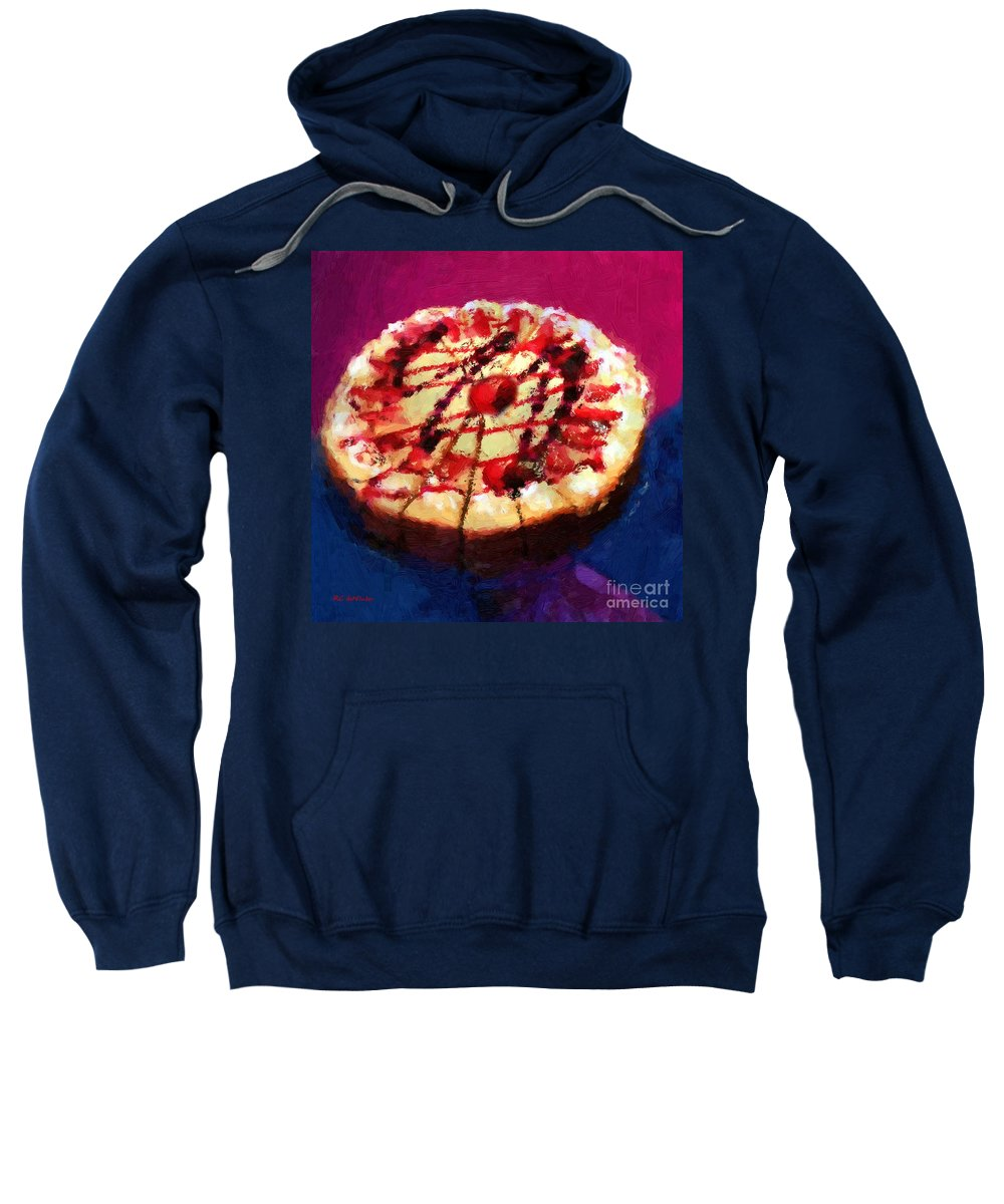 Cake Sweatshirt featuring the painting Stawberry Sin by RC DeWinter