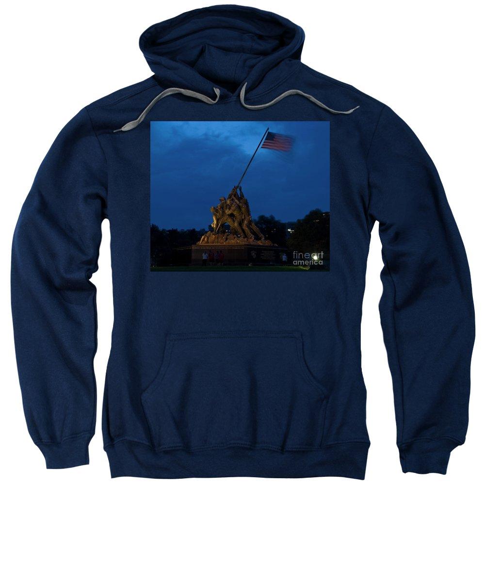 Iwo Jima Sweatshirt featuring the photograph Storm Warning At Iwo by Tim Mulina