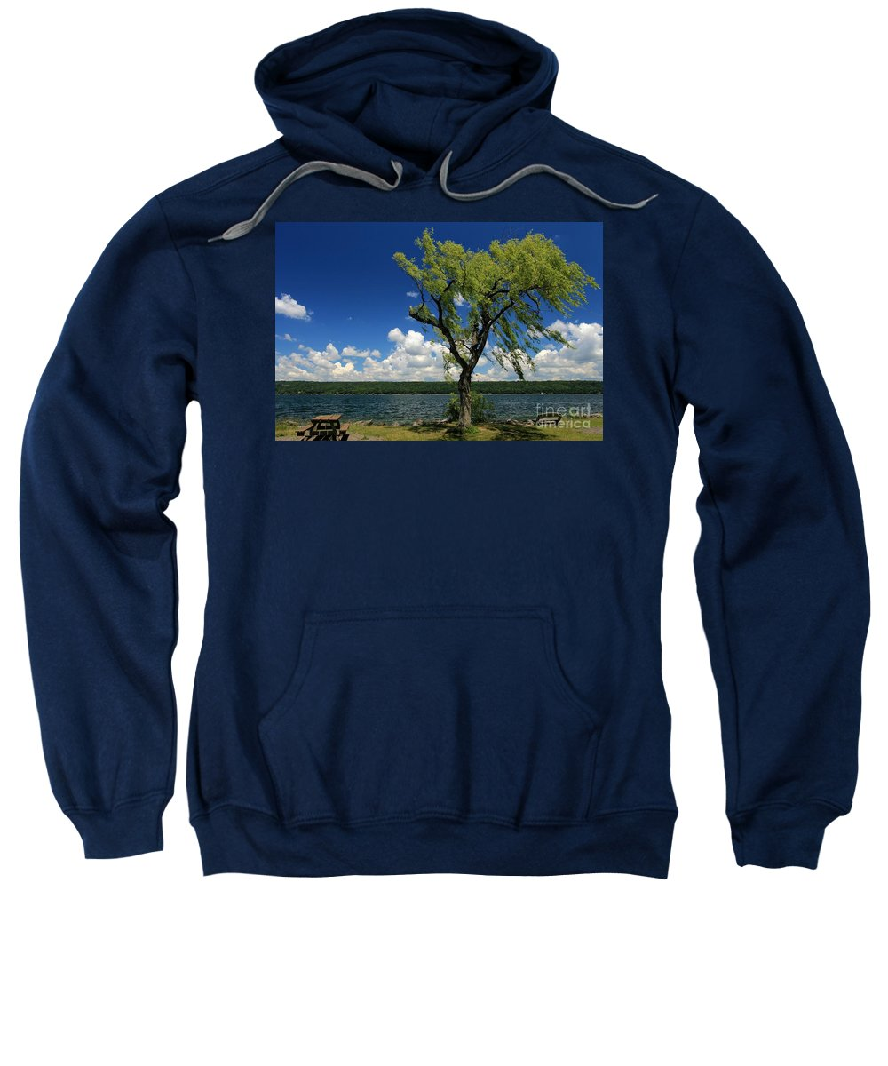 Taughannock Falls State Park Sweatshirt featuring the photograph Summer Picnic by Adam Jewell