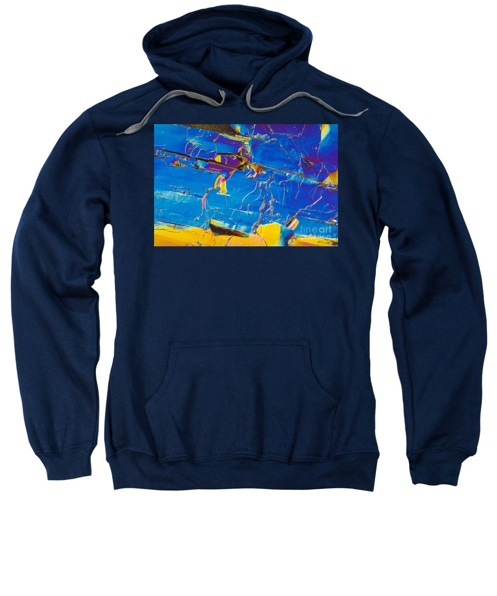 Science Sweatshirt featuring the photograph Superconductor Crystal by Michael W. Davidson