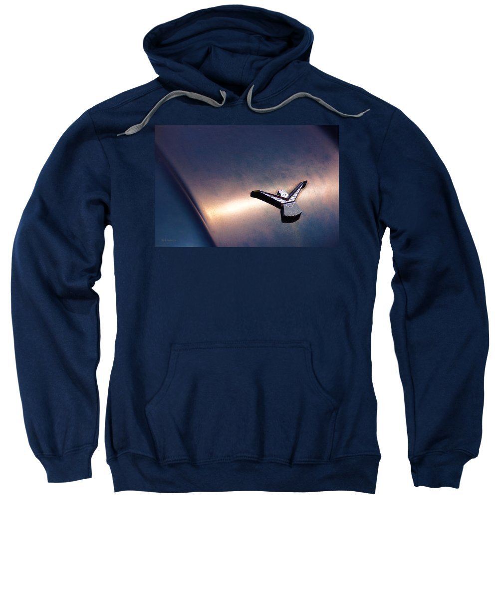 Thunderbird Sweatshirt featuring the photograph T Bird Emblem by Mick Anderson