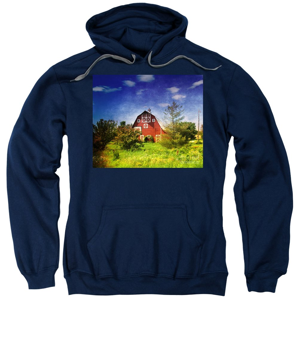 Amish Sweatshirt featuring the photograph The Amish House by Susanne Van Hulst