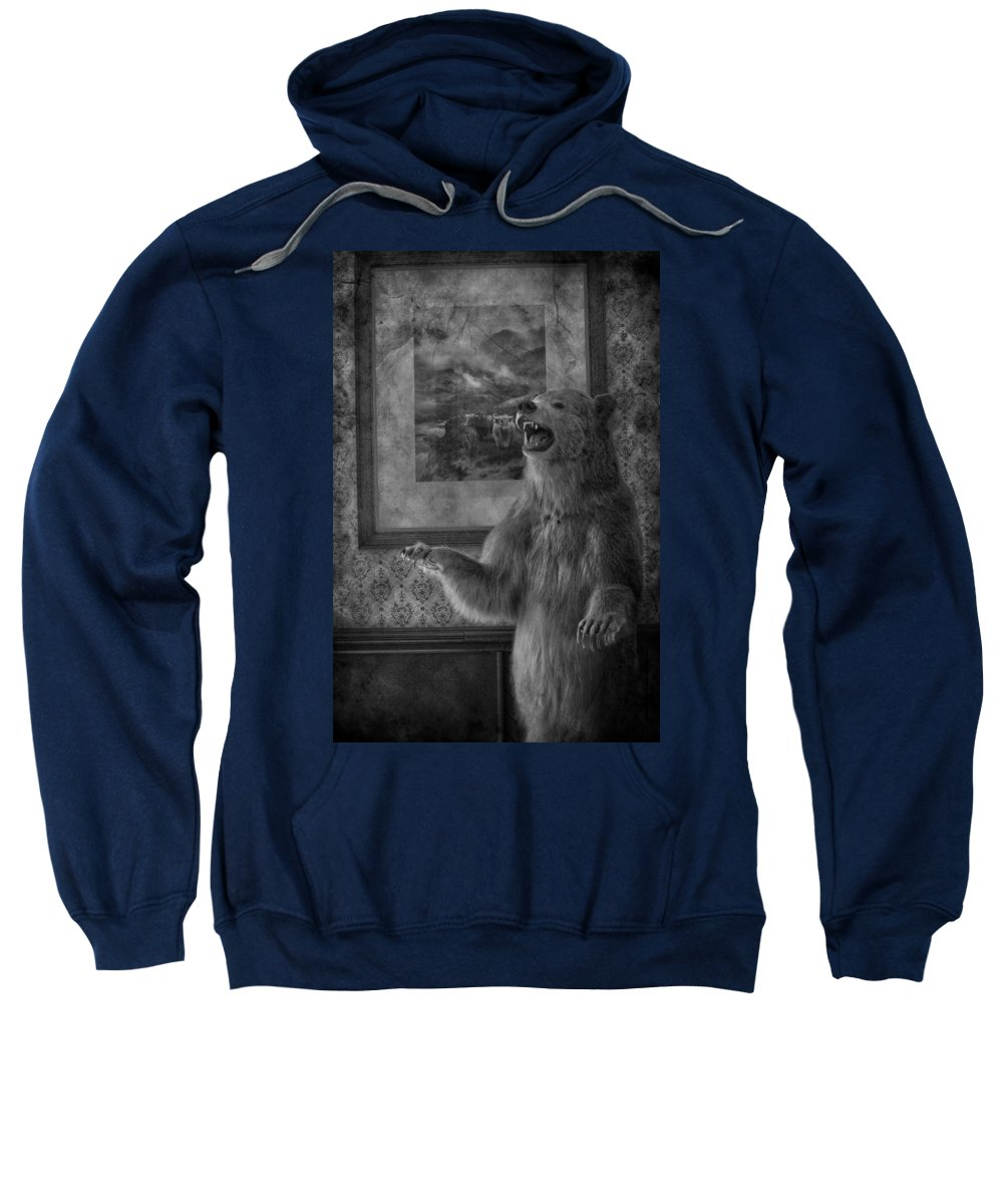 Bear Sweatshirt featuring the photograph The Bare Wall by The Artist Project