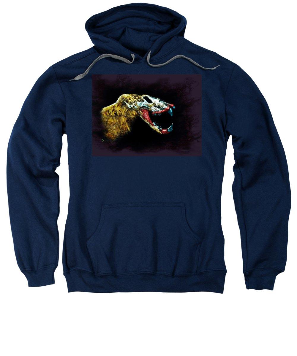 Animal Sweatshirt featuring the painting The Beast by Adam Vance