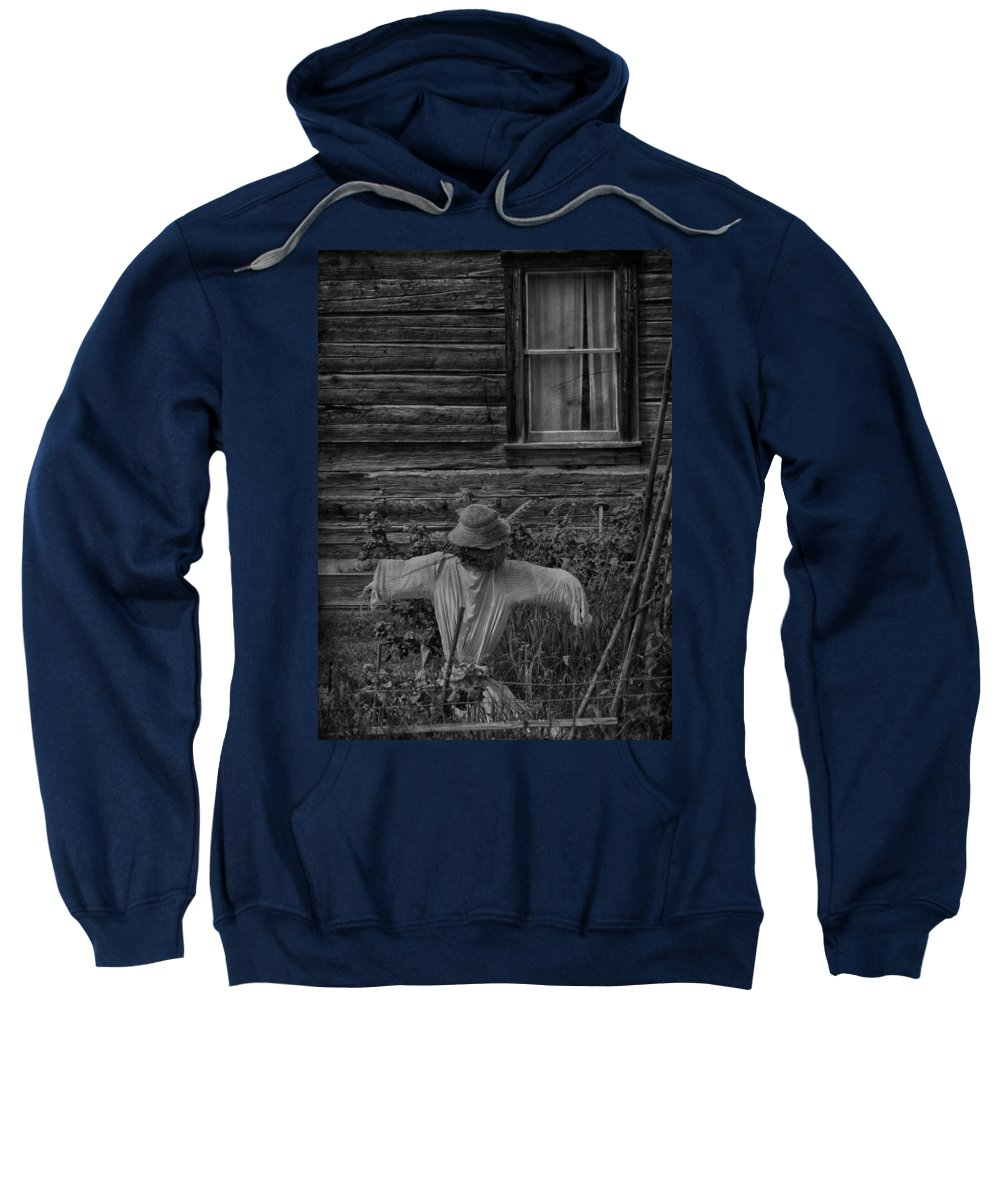 Scarecrow Sweatshirt featuring the photograph The Kind Lady by The Artist Project