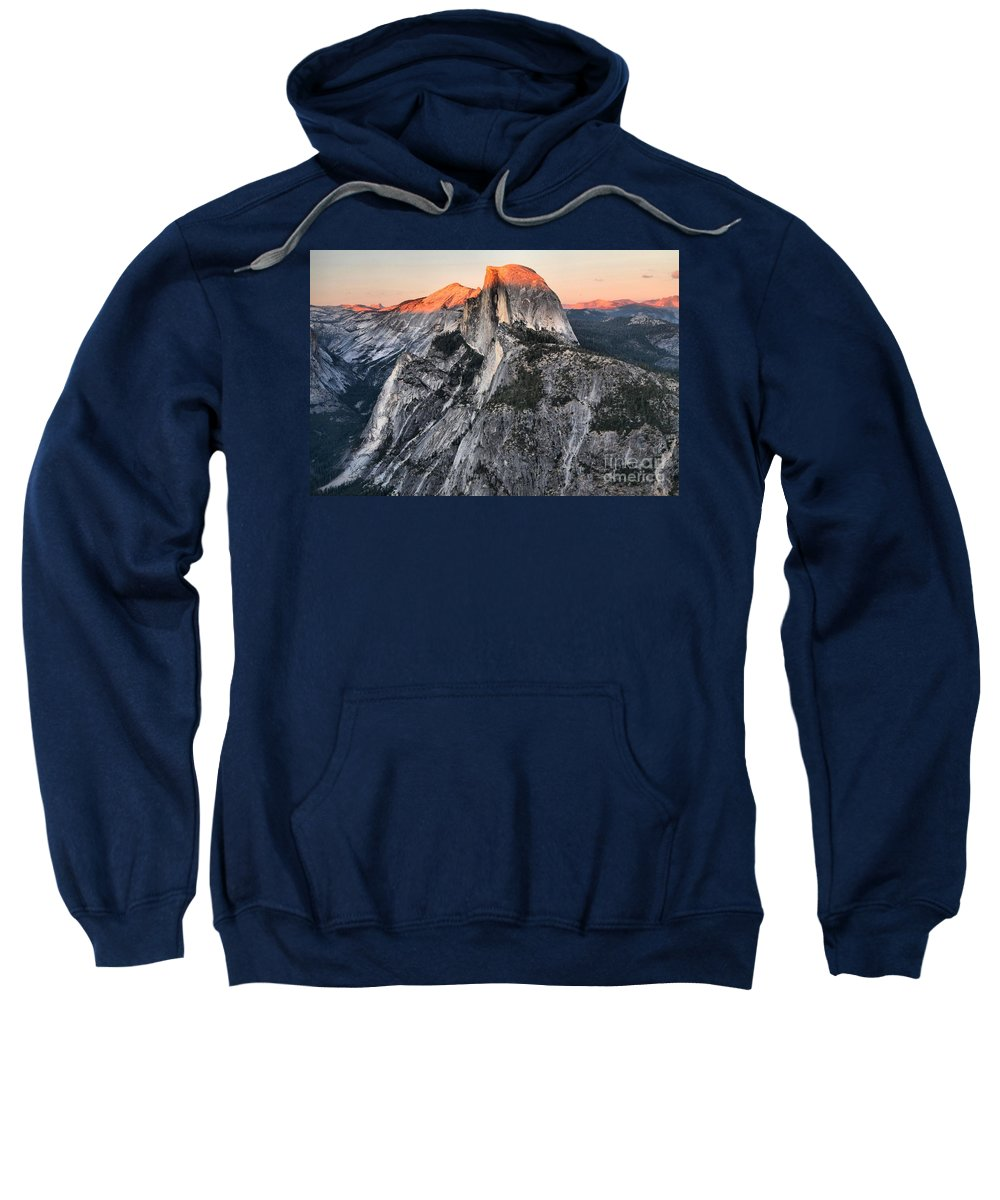 Half Dome Sweatshirt featuring the photograph The Lasy Rays by Adam Jewell