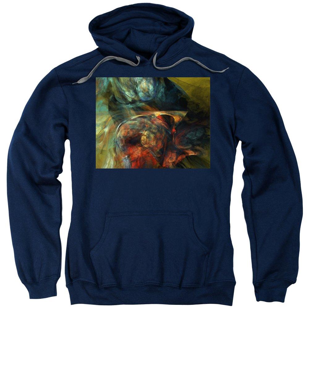 Fine Art Sweatshirt featuring the digital art Tormented by David Lane