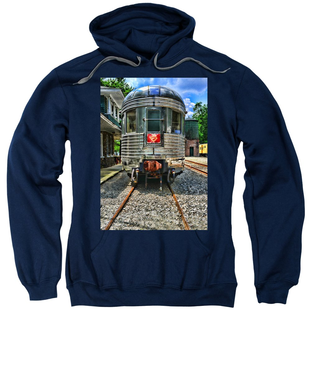 Train Sweatshirt featuring the photograph Train Of The Future by Paul Ward