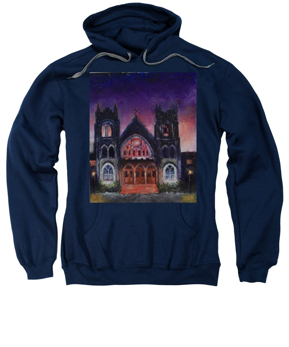 Church Sweatshirt featuring the painting Untitled by Stephen King