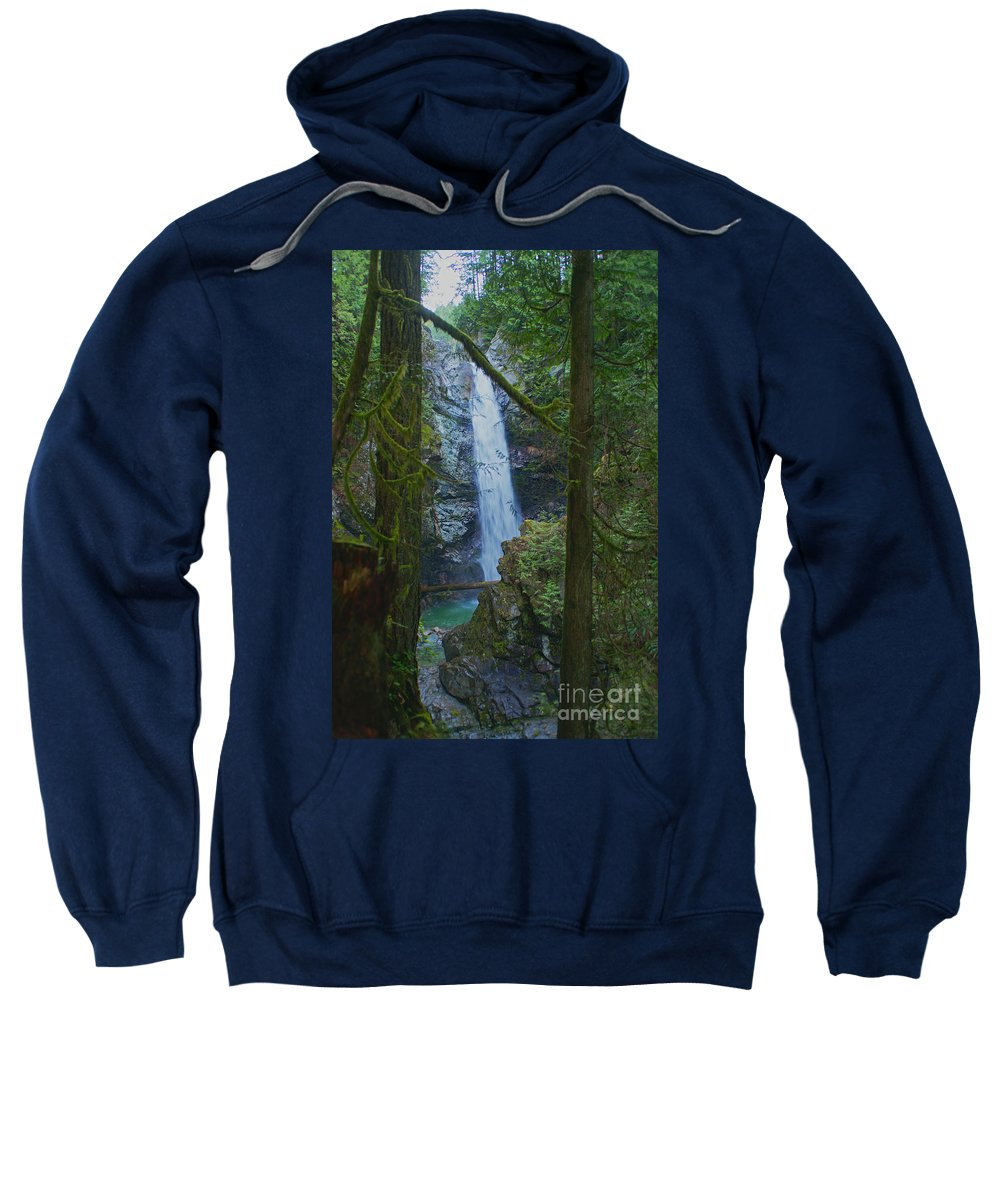 Waterfalls Sweatshirt featuring the photograph Waterfall In The Woods by Randy Harris